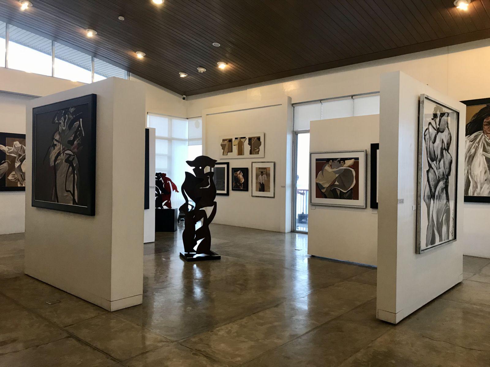 Art display at Bencab Museum in Baguio