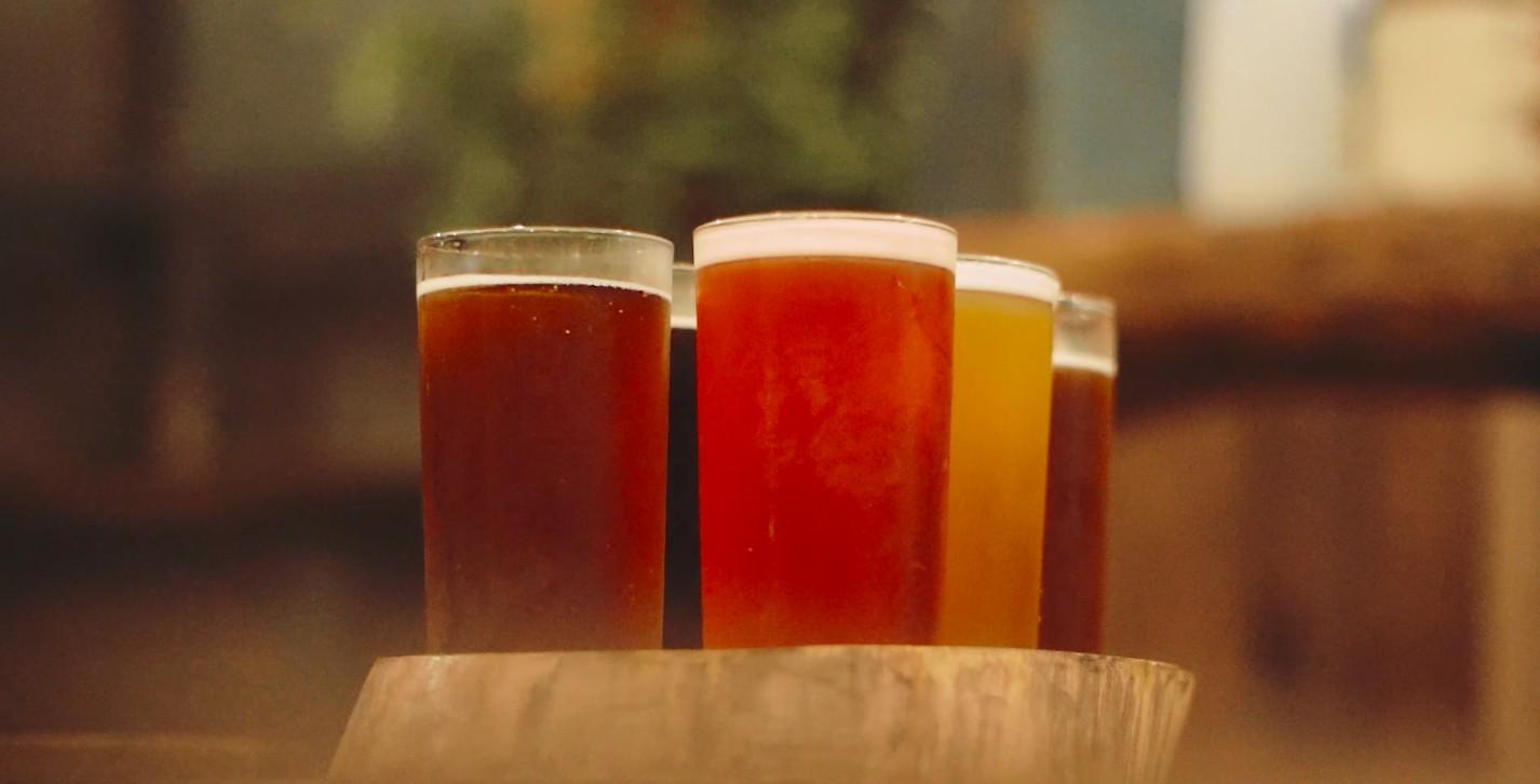 Beer samples at Craft 1945 in Baguio