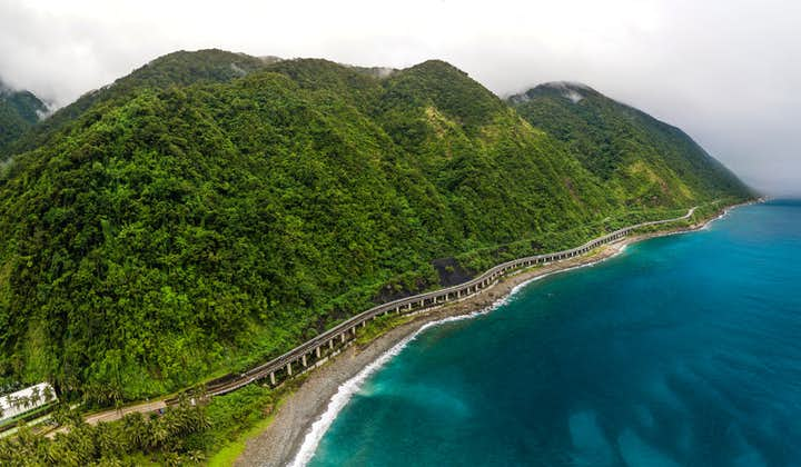 Aerial view of the scenic Patapat Viaduct in Ilocos