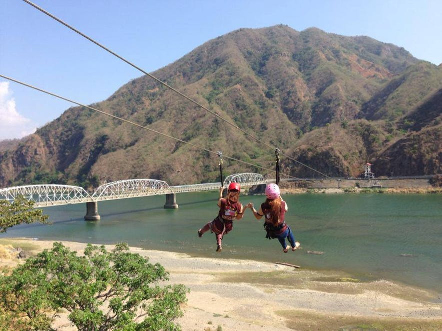 Ziplining in Ilocos Sur Adventure Zone