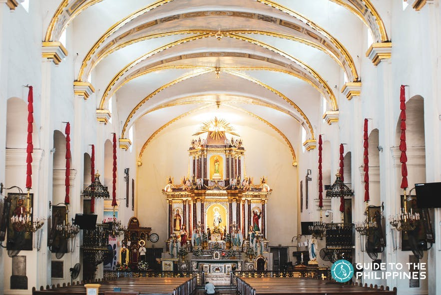 Interior of the Vigan Cathedral or the Saint Paul Metropolitan Cathedral in Ilocos SUr