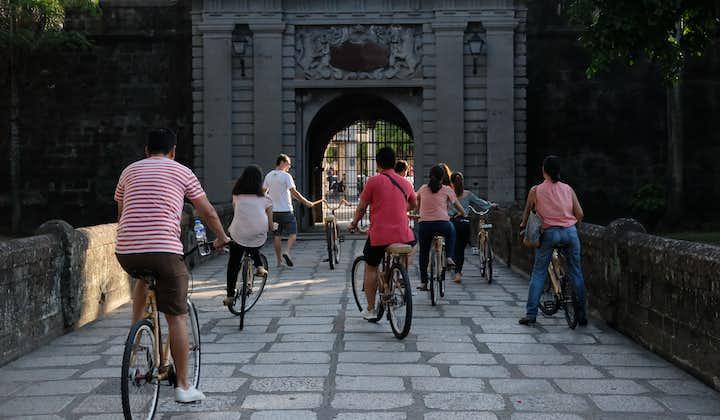 A group of bikers inside Intramuros