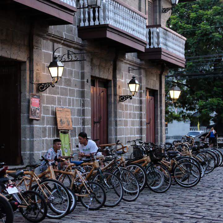 Bambikes outside Casa Manila in Intramuros