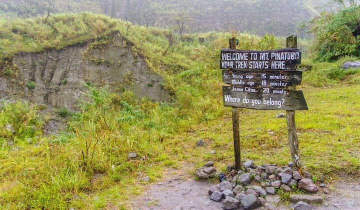 Entrance signage at Mount Pinatubo