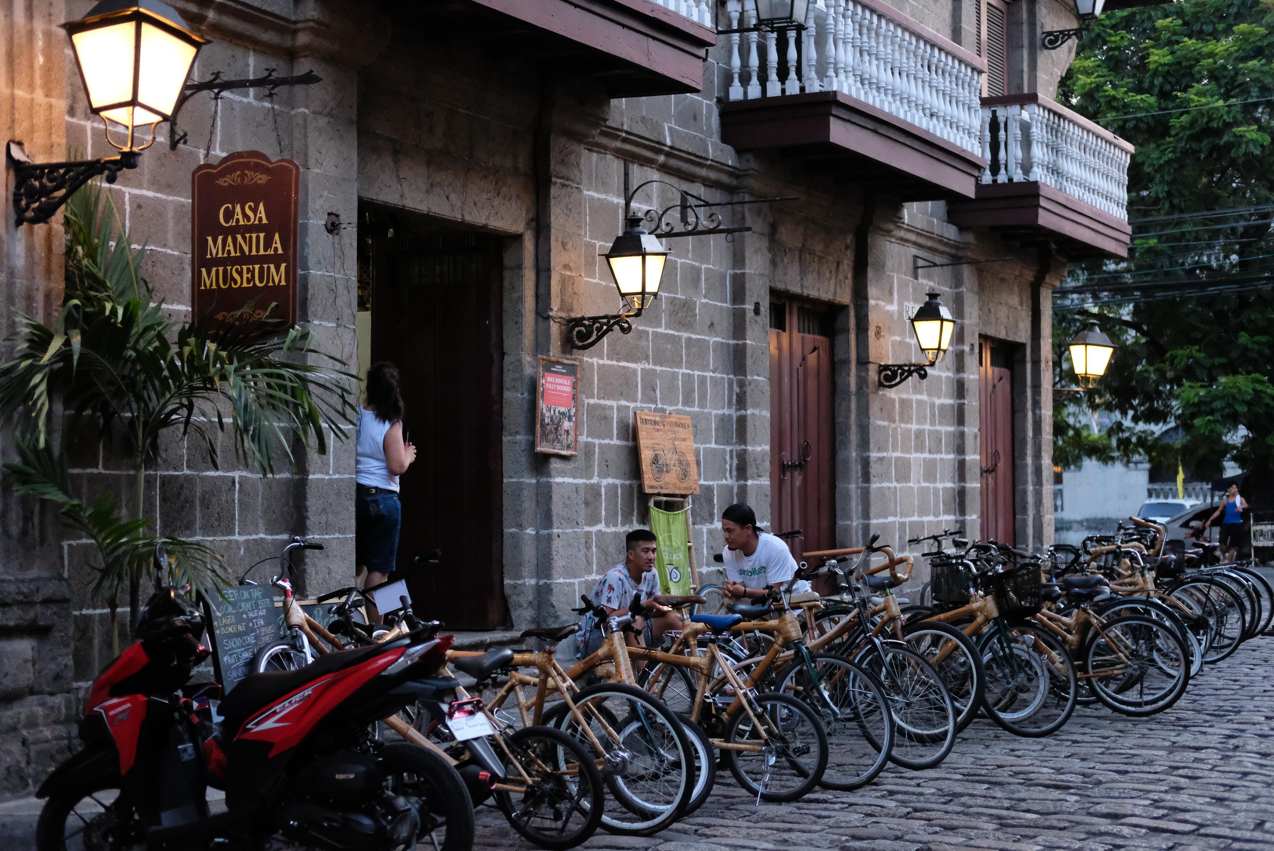 Bikes outside of Casa Manila in Intramuros