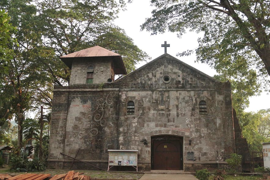 Front view of the Boso-Boso Church in Antipolo