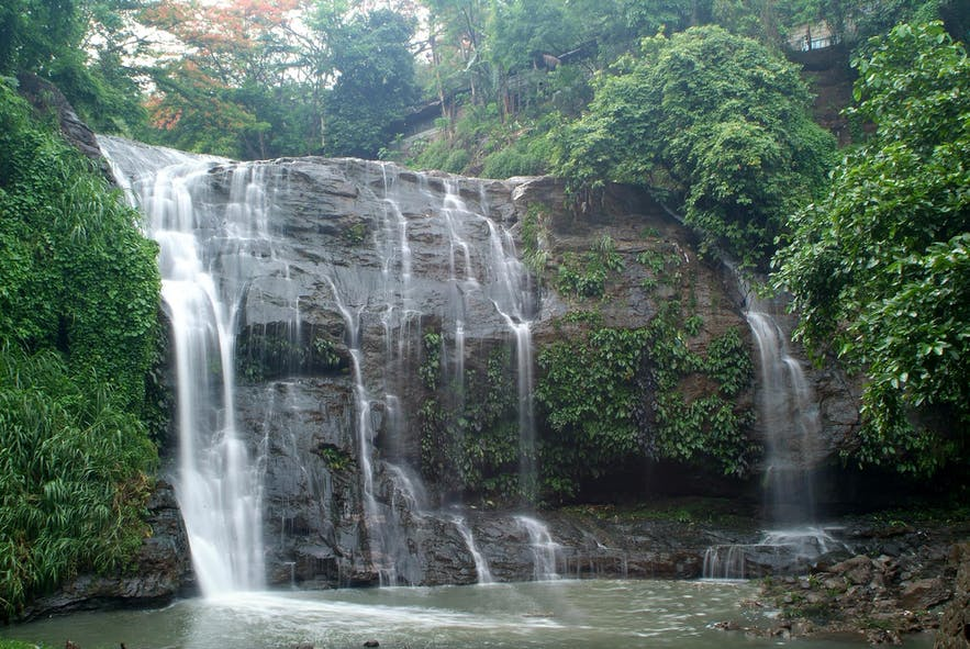 The waterfalls in Hinulugang Taktak, Antipolo