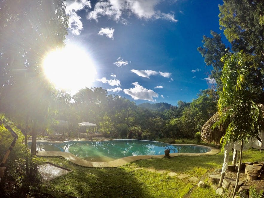 The pool area in the Mount Purro Nature Reserve, Antipolo