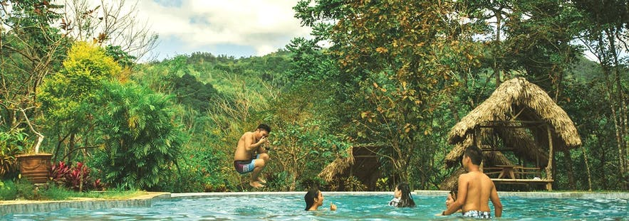 Enjoying the pool at Mount Purro Nature Reserve