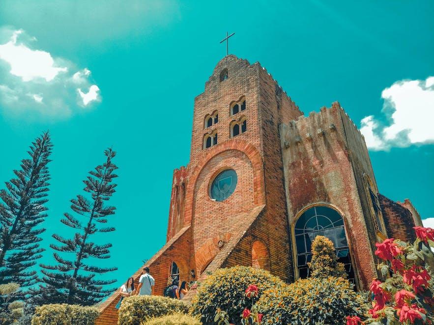 Facade of Calaruega Church in Batangas