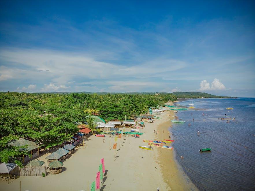 Shoreline of Laiya Beach in Batangas