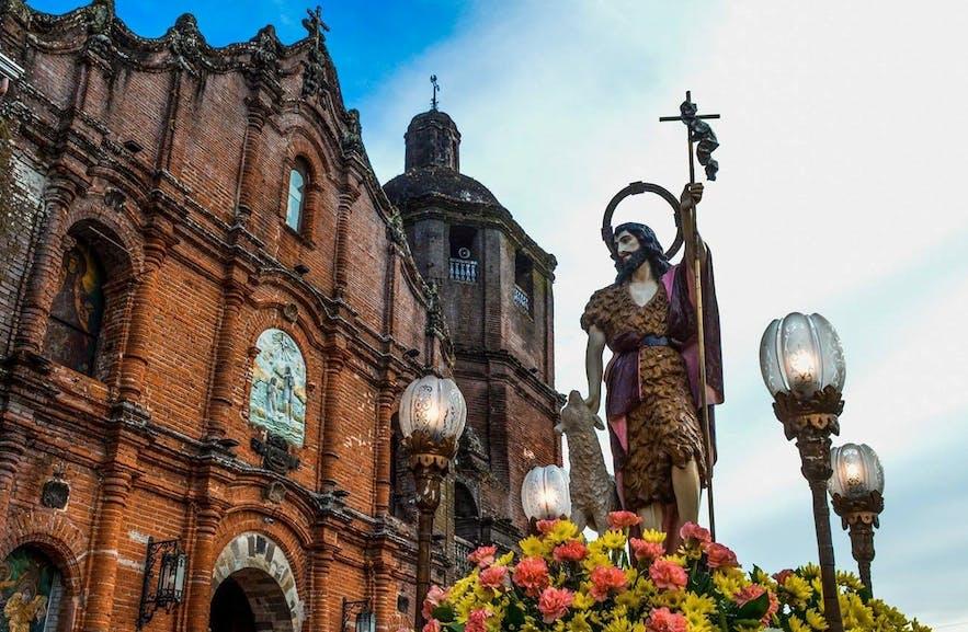 Facade of St. John the Baptist Church