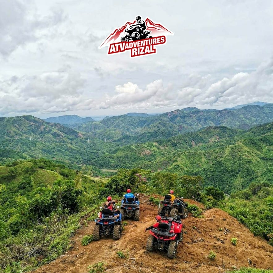 Travelers riding ATVs in Rizal, Philippines