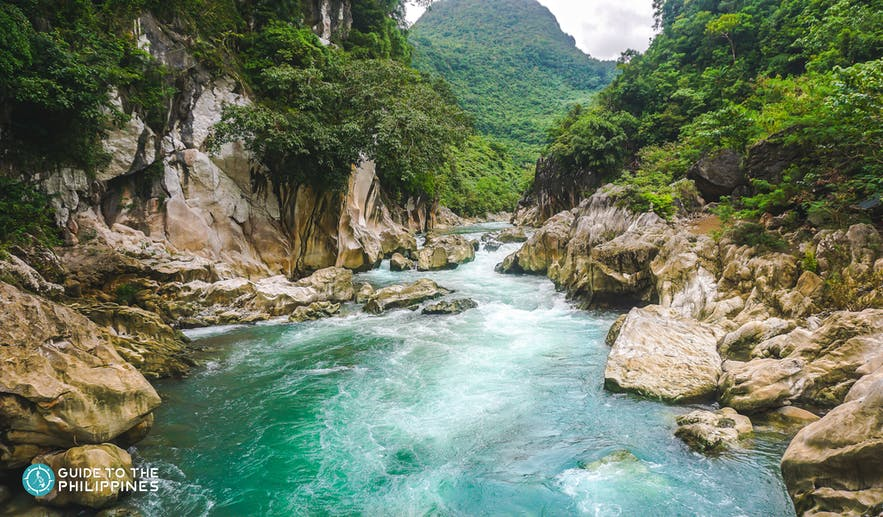 The blue waters of Tinipak River, Rizal