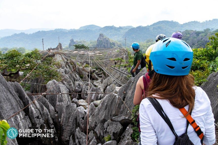 Hikers in Masungi Georeserve, Rizal
