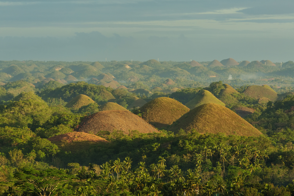 Beautiful view of Chocolate Hills in Bohol