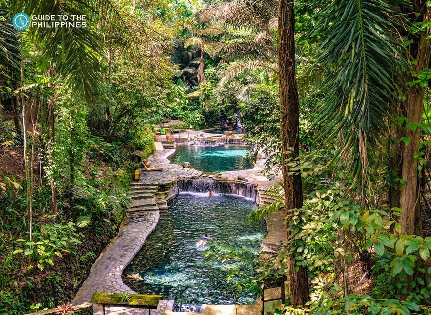 Pools in Hidden Valley Springs Resort in Laguna
