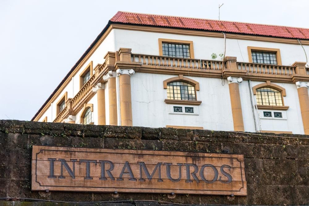 Signage of Intramuros in Manila