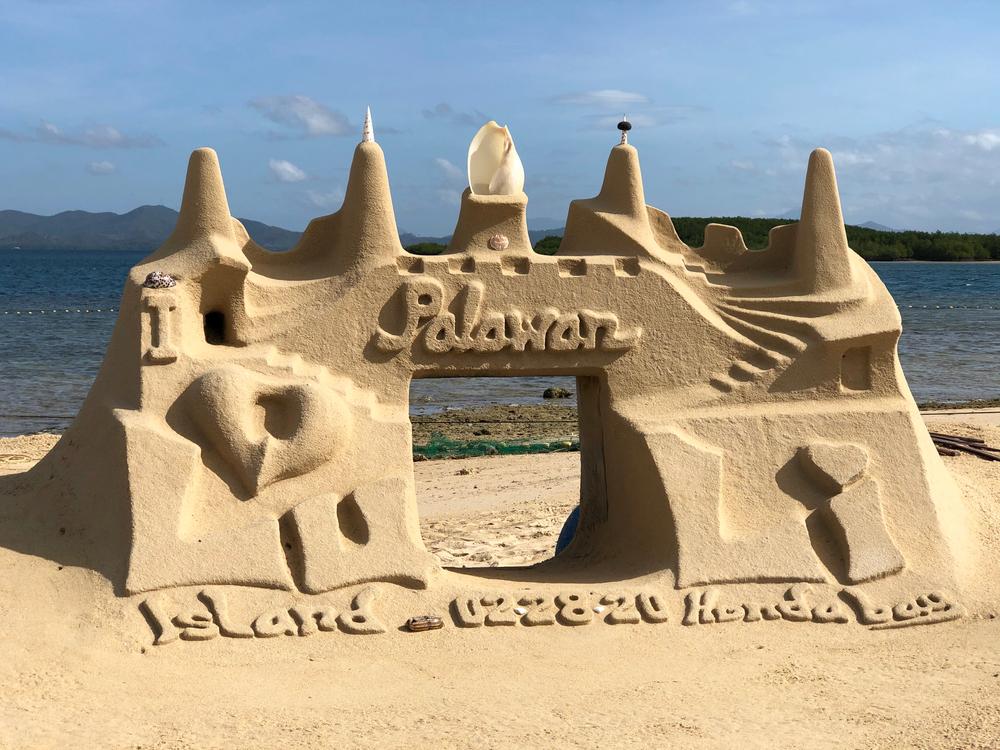 Sand castle in Honda Bay, Palawan