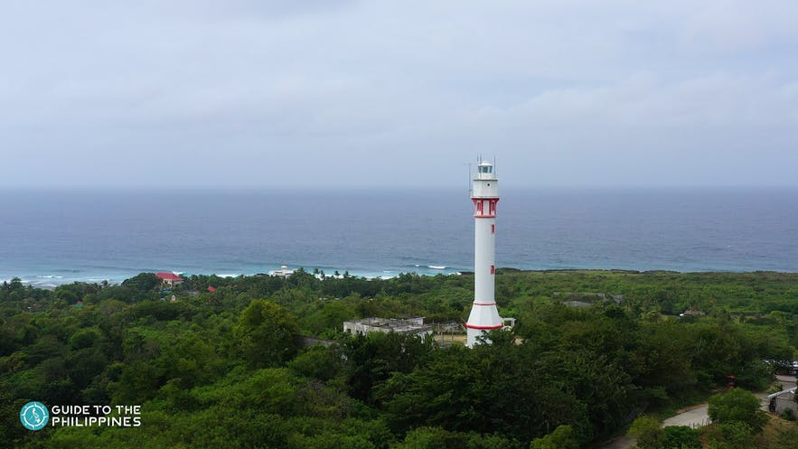Aerial view of Cape Bolinao Lighthouse
