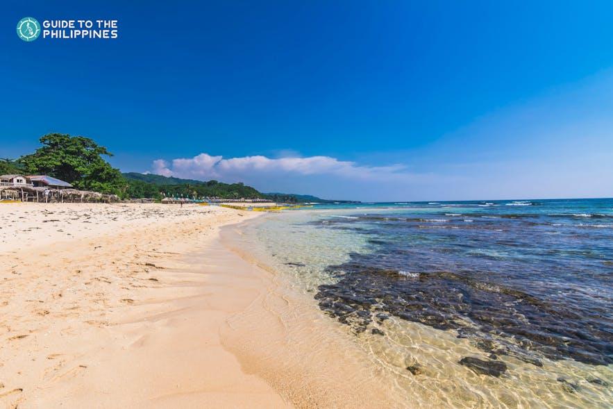 Shoreline of Patar Beach in Pangasinan