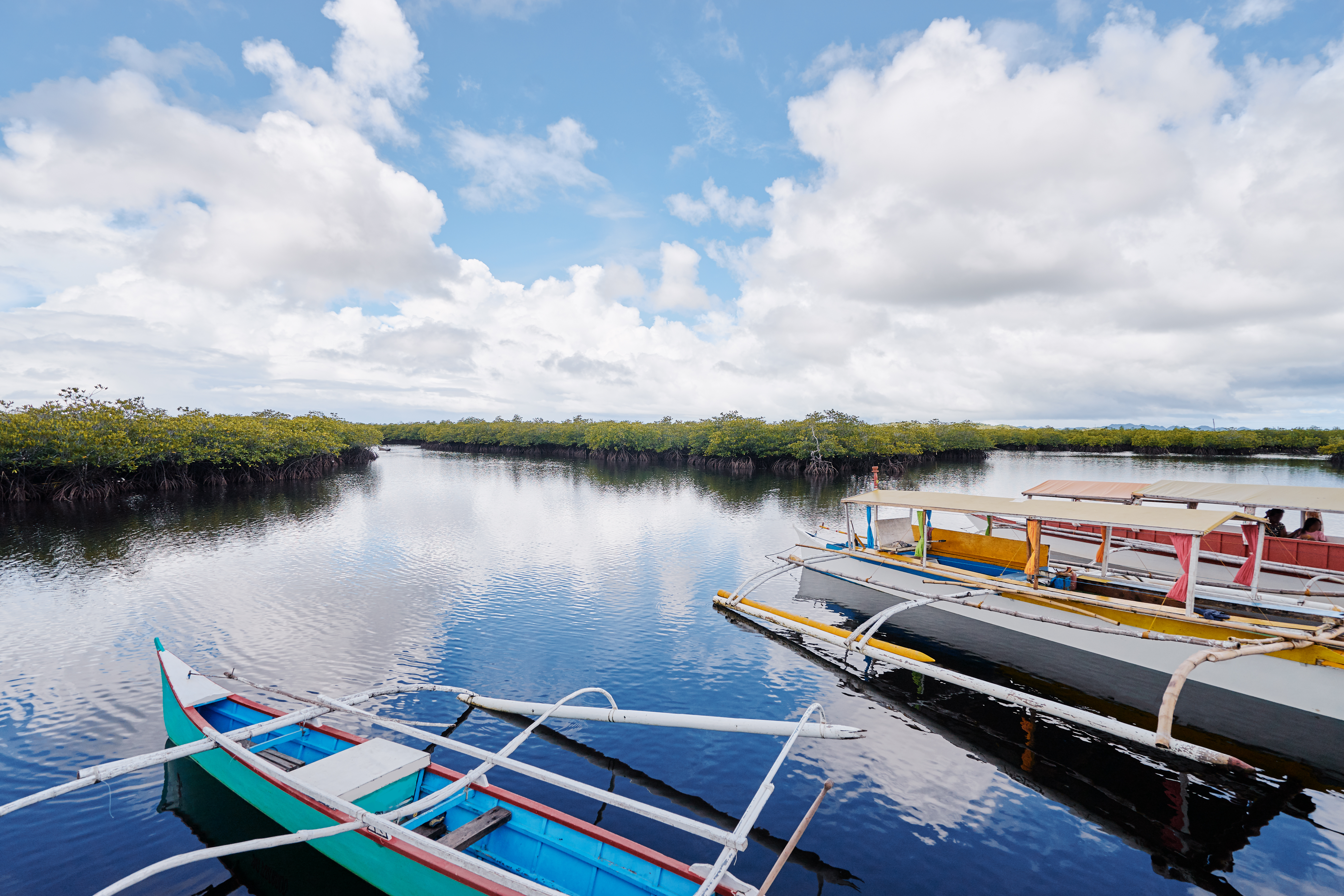Boats in Cambuhat Village in Bohol