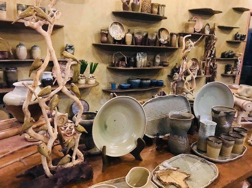Some clay art in UGU Bigyan's Pottery Garden