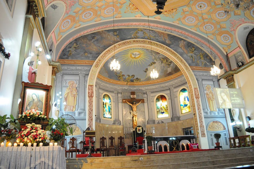 The altar of Lucena Church in Quezon Province
