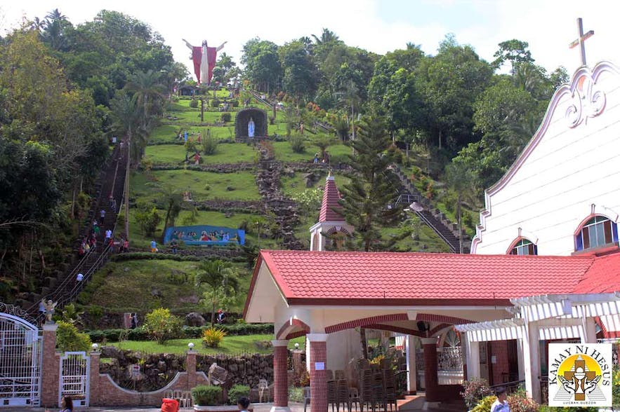 Kamay Ni Hesus atop the a hill in Quezon Province