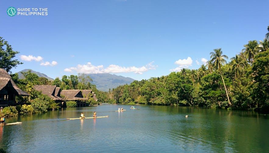 The river in Villa Escudero, Quezon