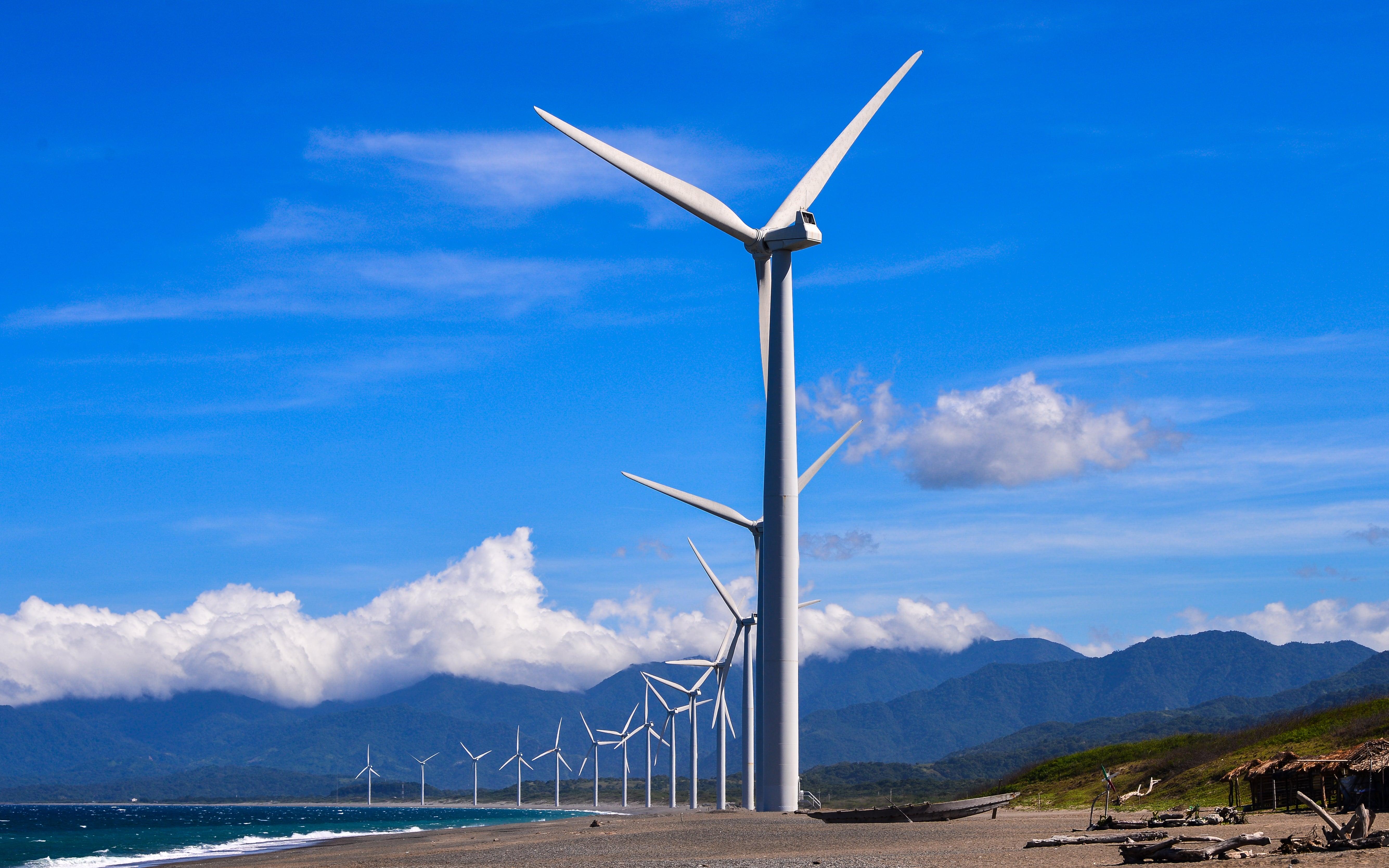 Wind turbines of Bangui Windmills in Pagudpud