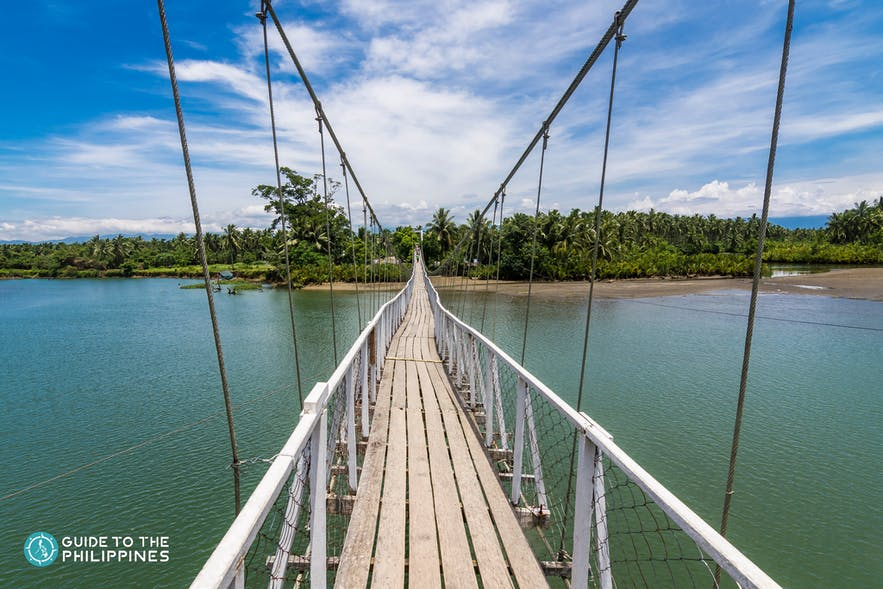 Baler Hanging Bridge above a river