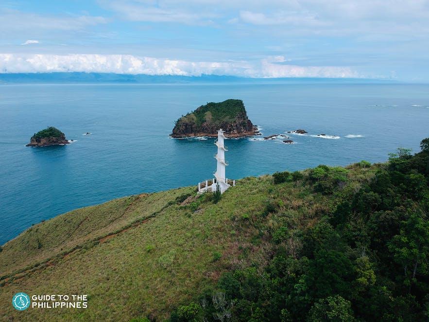 Baler Lighthouse on a hill in Baler
