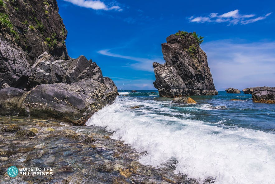 Rock formations at Ampere Beach, Baler