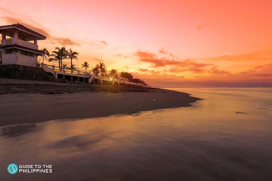 Sunset on Sabang Beach, Baler
