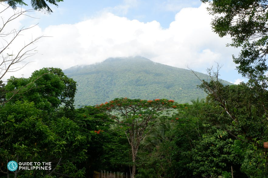 VIew of Mt. Banahaw's peak in Quezon Province