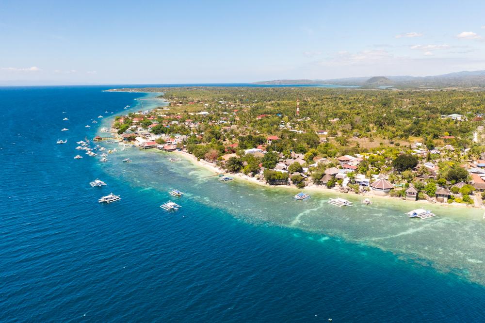 Aerial view of Moalboal Island in Cebu