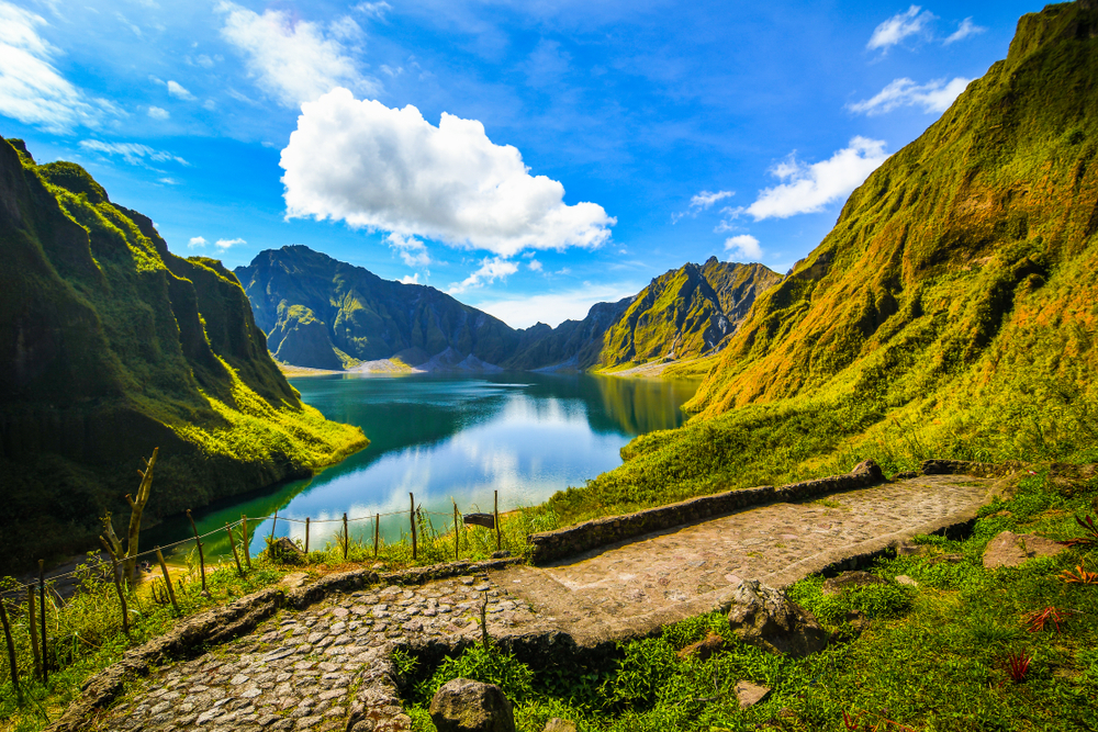 Viewing area of the Mt. Pinatubo Crater Lake