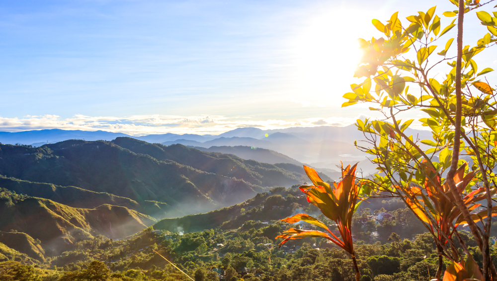 Sunrise at Mines View Park in Baguio City