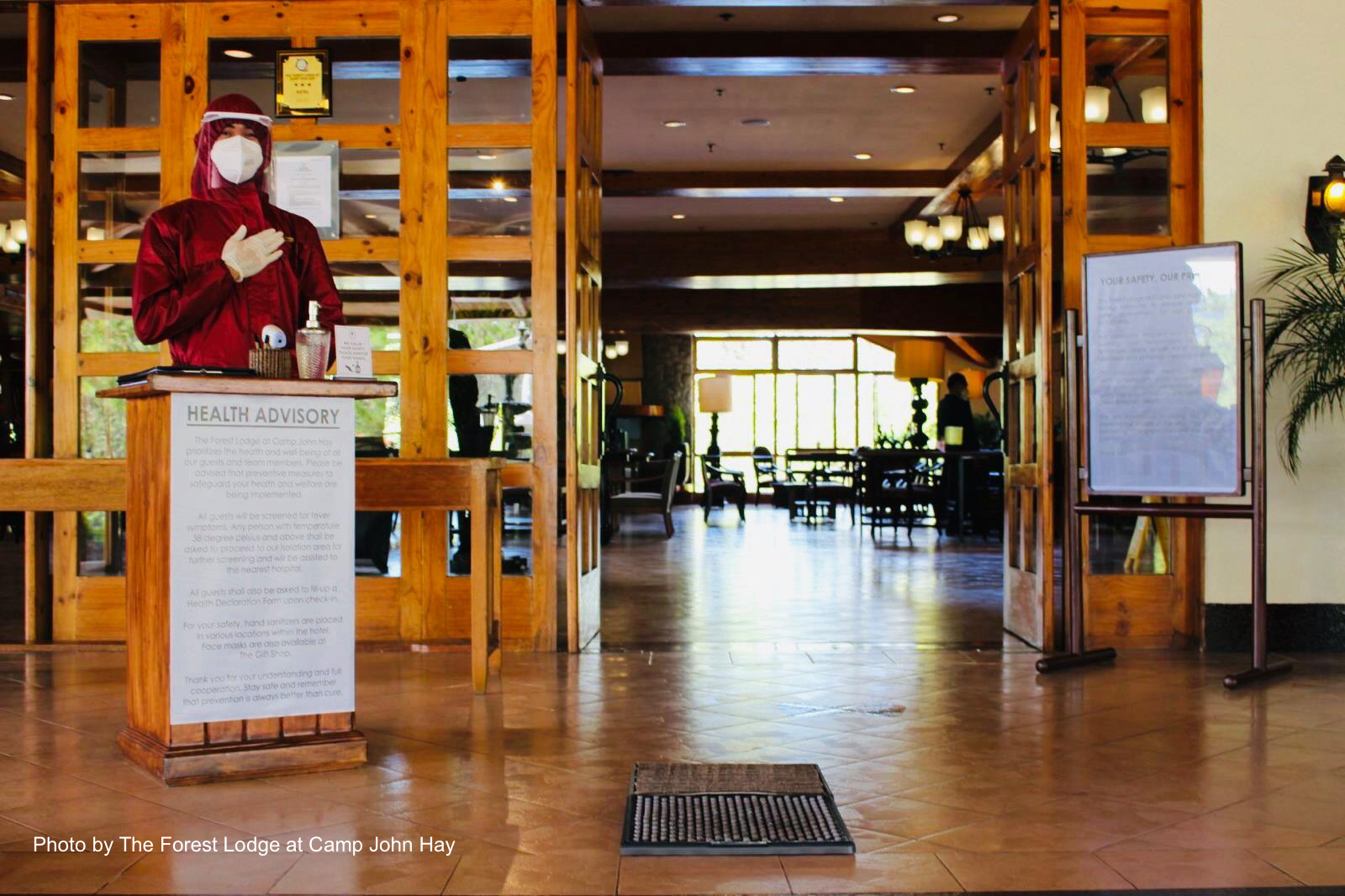Entrance to The Forest Lodge at Camp John Hay