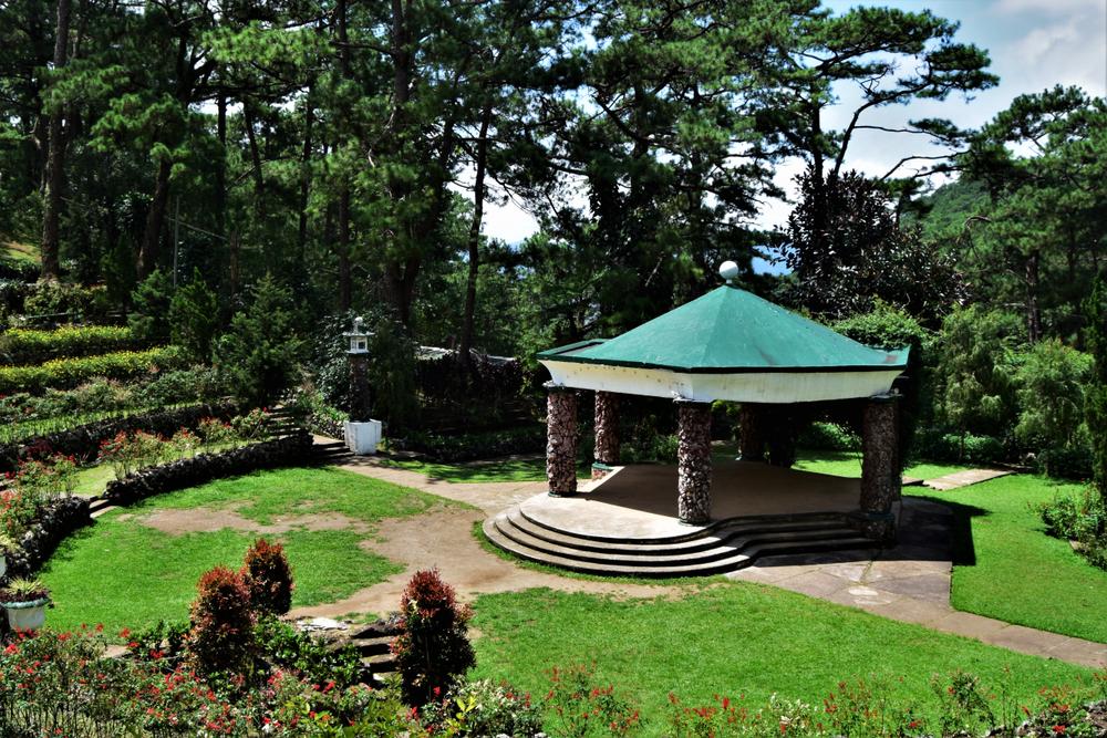 Garden scene at Camp John Hay in Baguio City