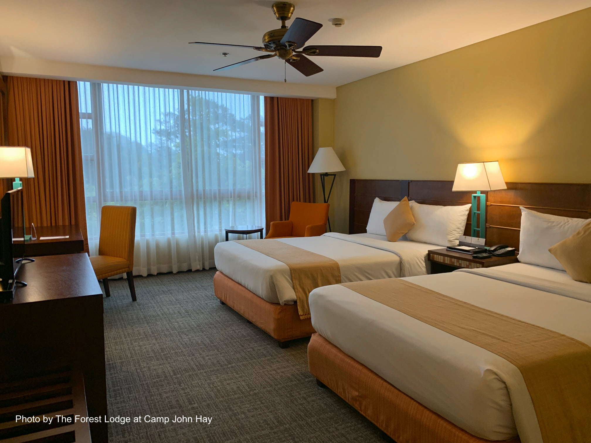 Beautiful room at The Forest Lodge in Camp John Hay