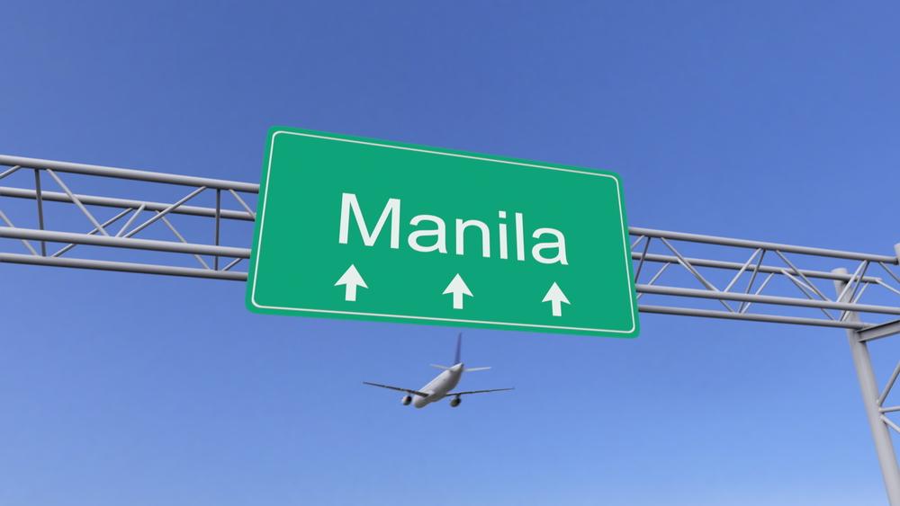 Plane near Manila Airport