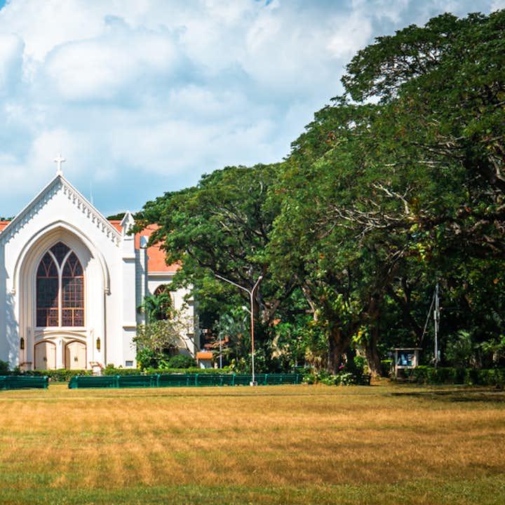 Church inside Silliman University in Dumaguete