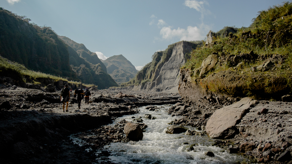 Rocky trail going to Mt. Pinatubo