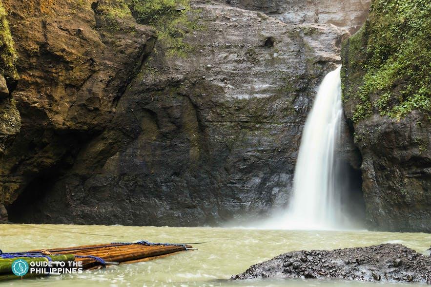 A raft by the Pagsanjan Falls