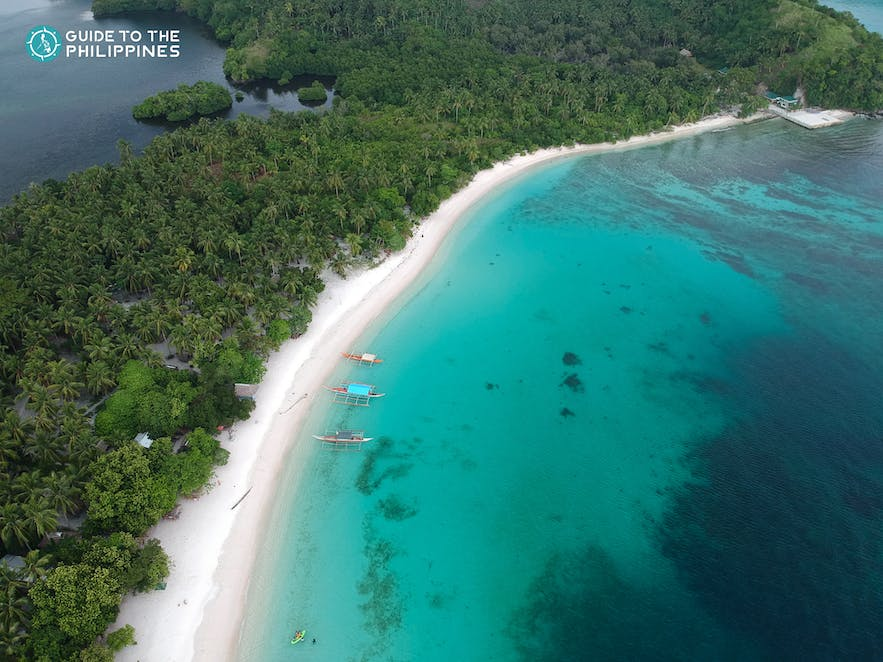 Aerial view of Subic Beach in Bicol