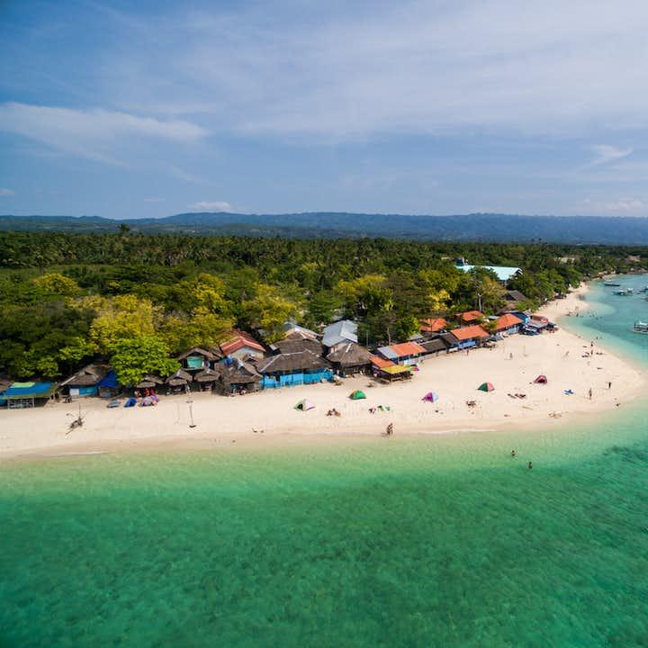 White sand beach of Moalboal in Cebu