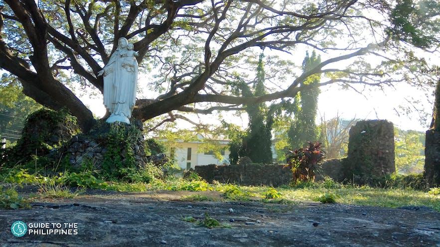 Statue of the Virgin Mary at Pindangan Ruins, La Union