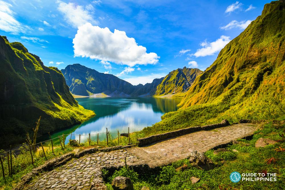Crater lake at the peak of Mt. Pinatubo
